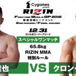 Cygames presents RIZIN FIGHTING WORLD GRAND-PRIX 2016 無差別級トーナメント Final ROUND